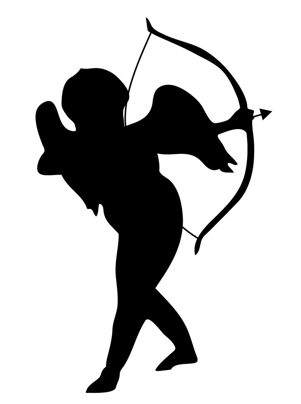 cupid silhouette clipart