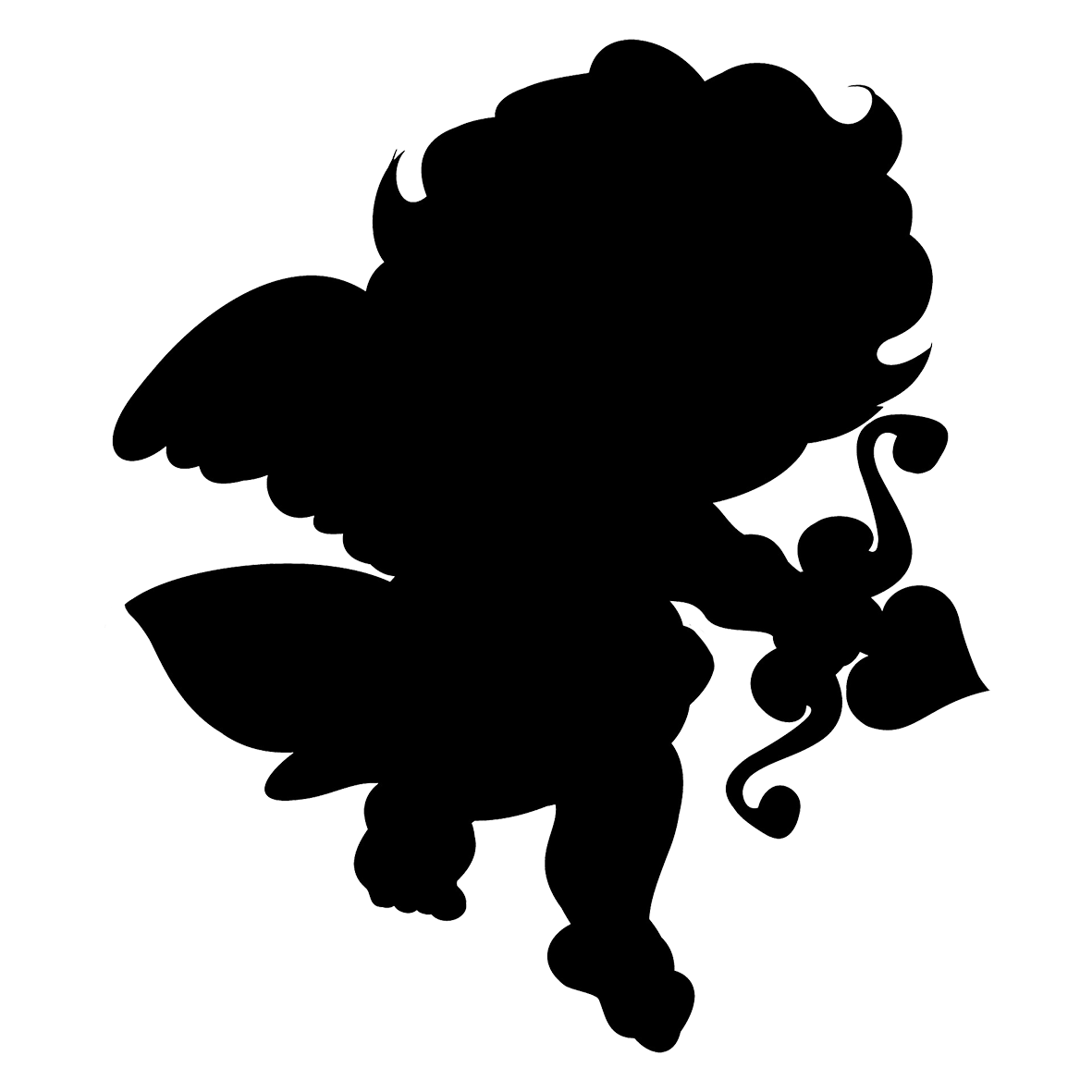 small cupid silhouette