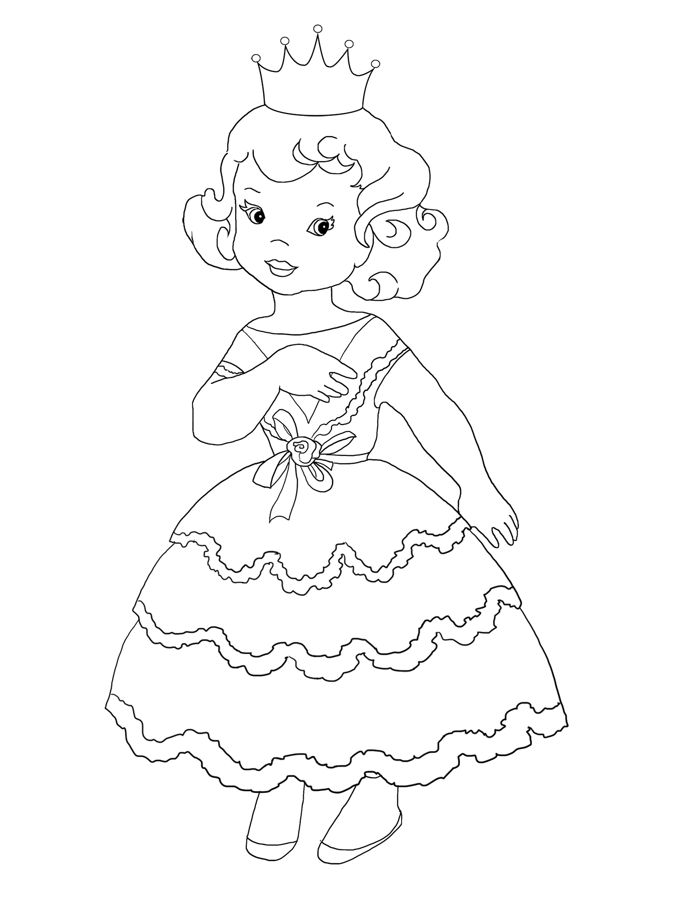 cute little princess coloring sheet