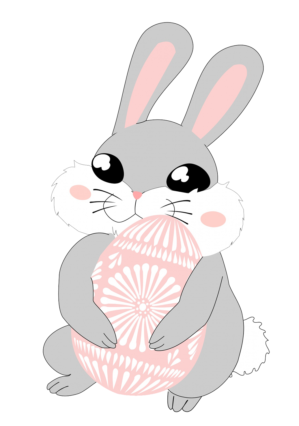 Very cute Easter bunny with egg