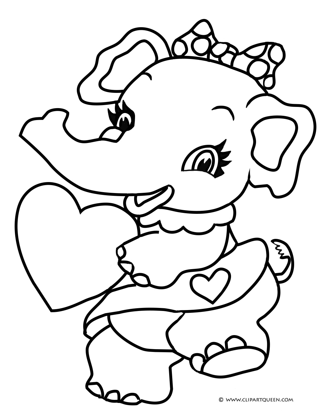 Cute And Funny Valentines Day Coloring Page