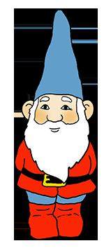 cute garden gnome clipart