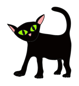 cute-Halloween clip art cat