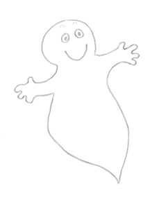 Cute halloween clip art ghost