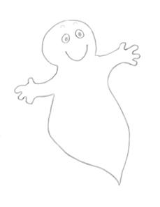 Cute halloween clip art ghost