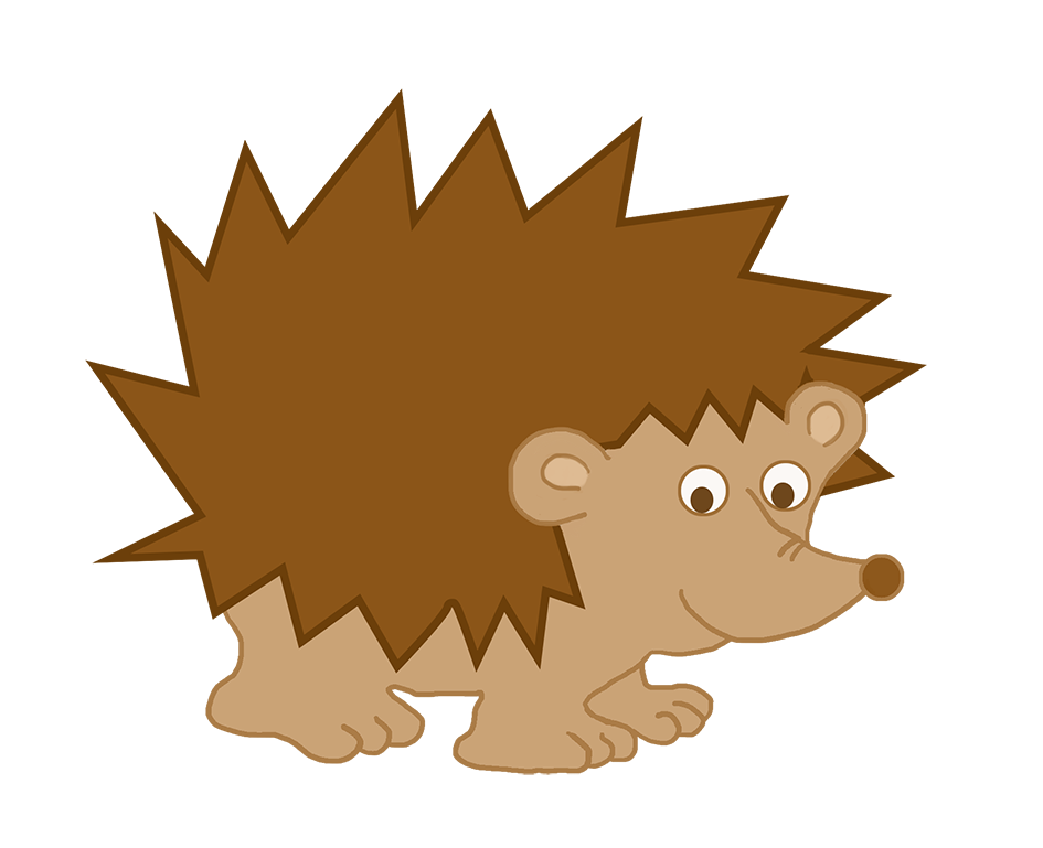 clipart cute little hedgehog