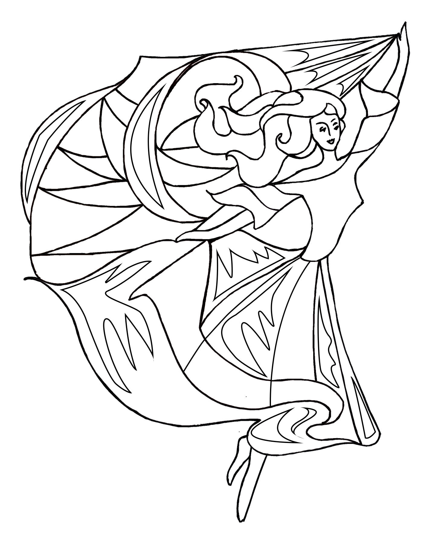 dance coloring page with scarfs