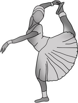 Dancer silhouette bharata natyam