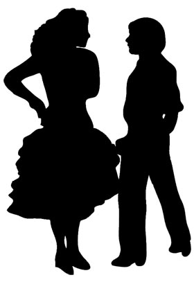 dancer silhouette pasodoble