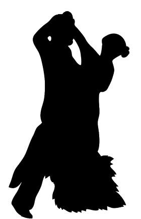 dancing silhouette tango