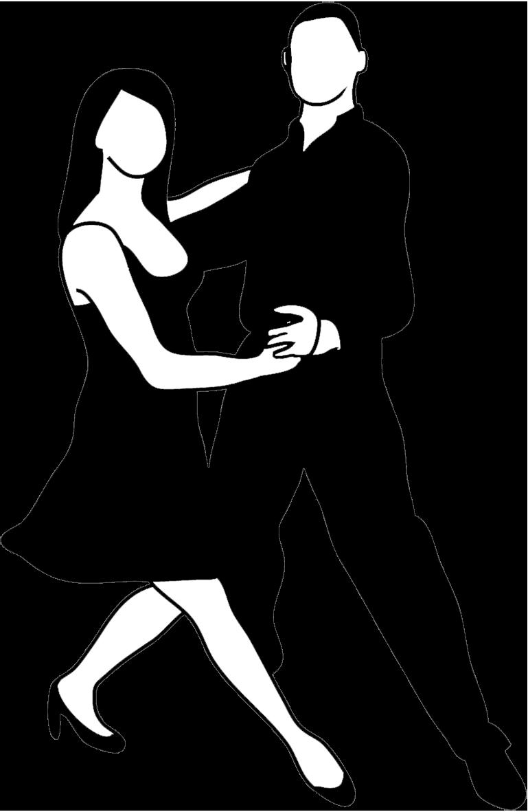 dancer sketch black white