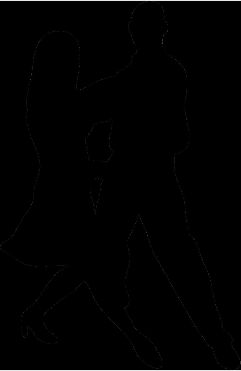 dancer sketch black silhouette