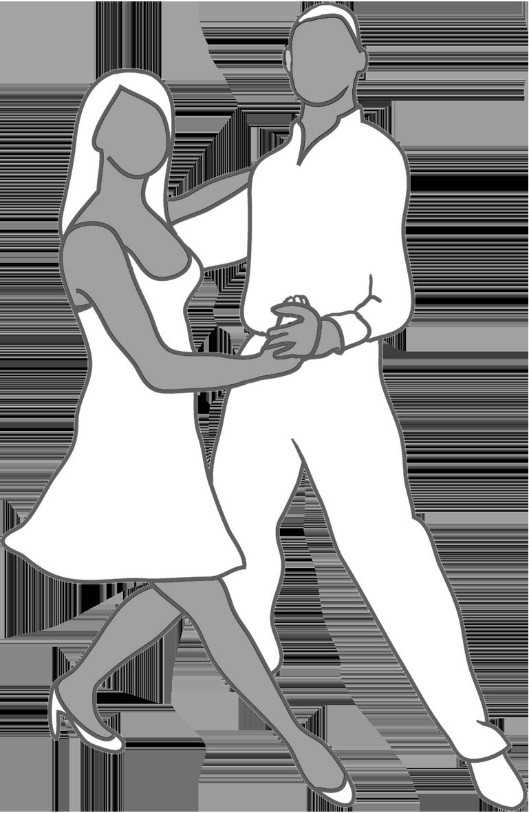 Dancer silhouette grey white