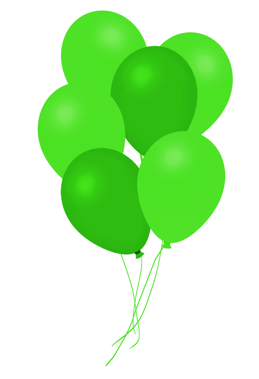 dark green bunch of balloons