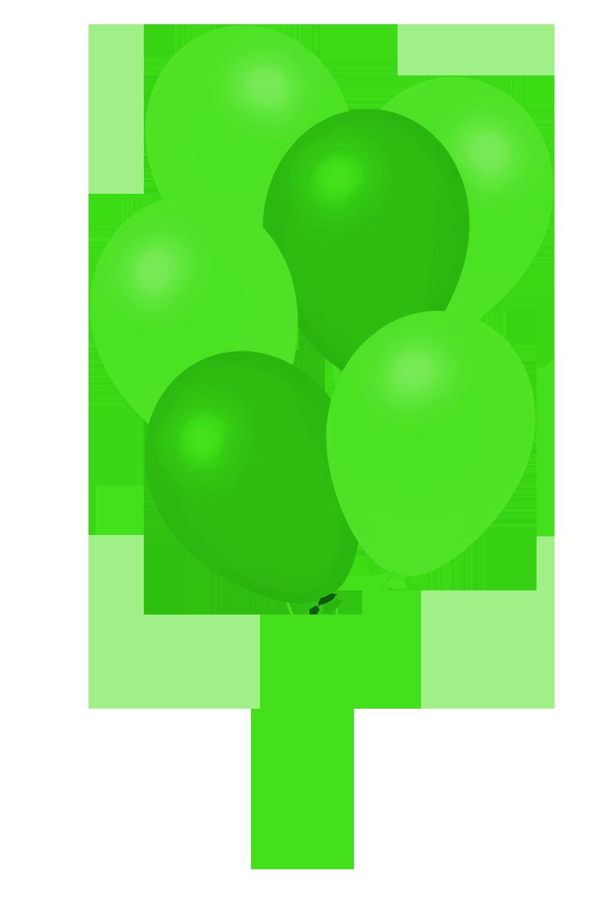 dark green bunch of balloons