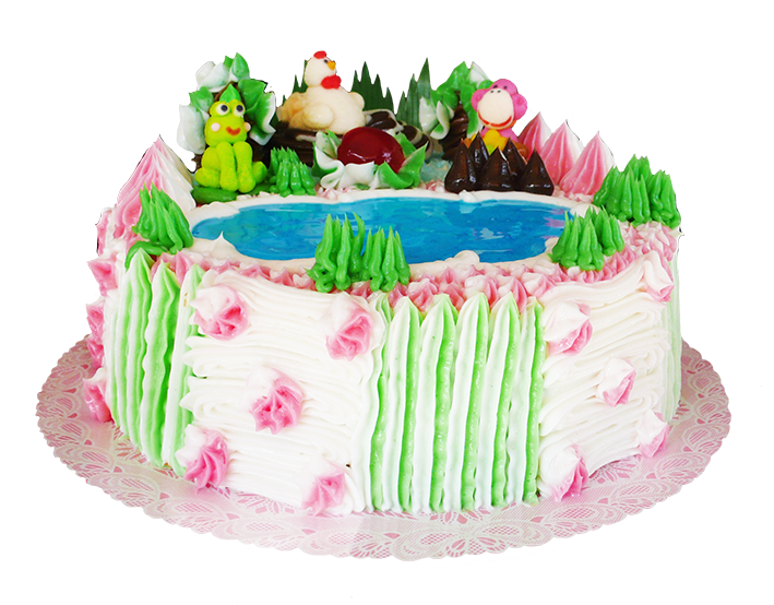 Decorated Birthday Cake Clipart