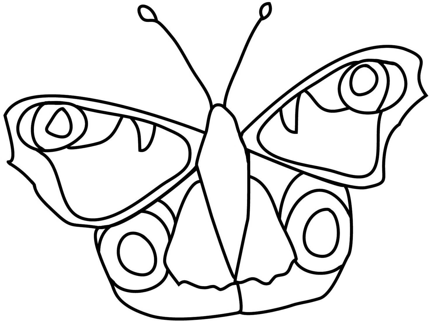 decorative coloring page butterfly