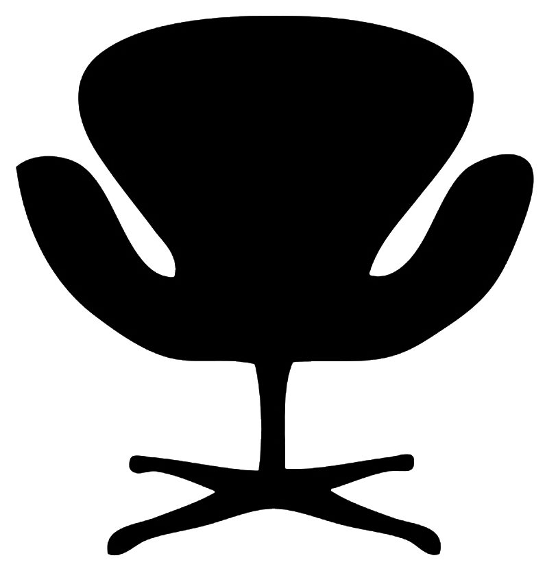 designer chair silhouette