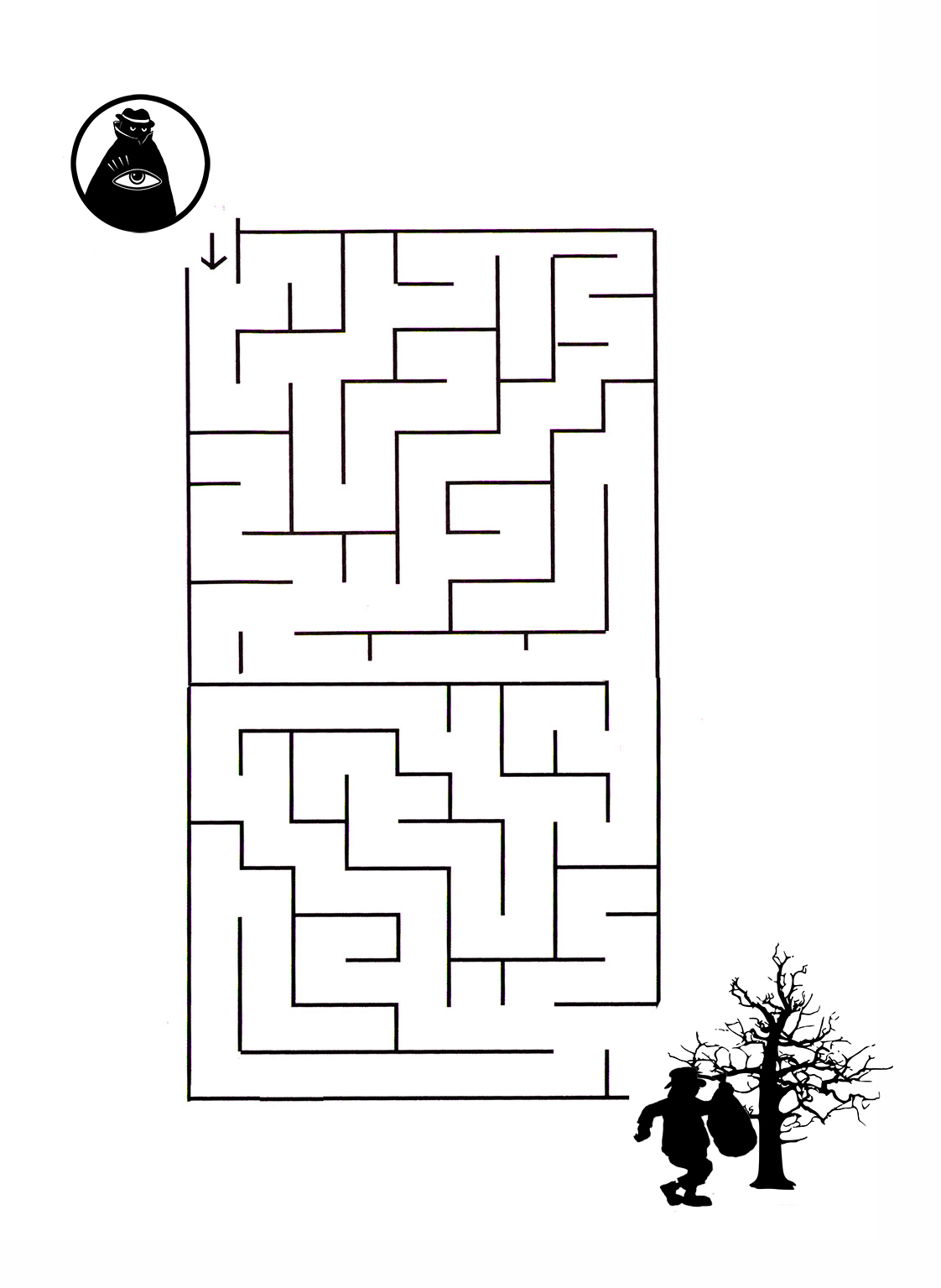 detective maze for birthday party