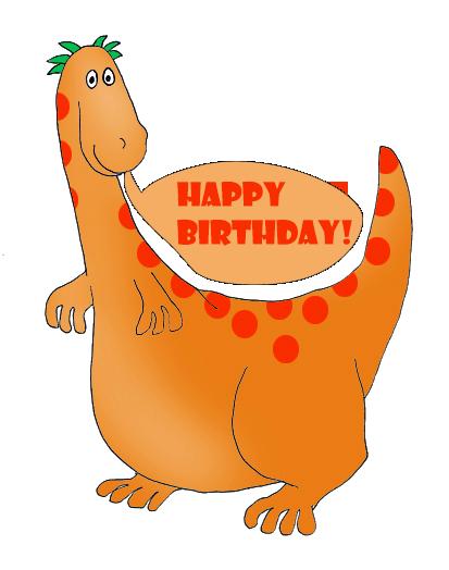 dinosaur birthday greeting