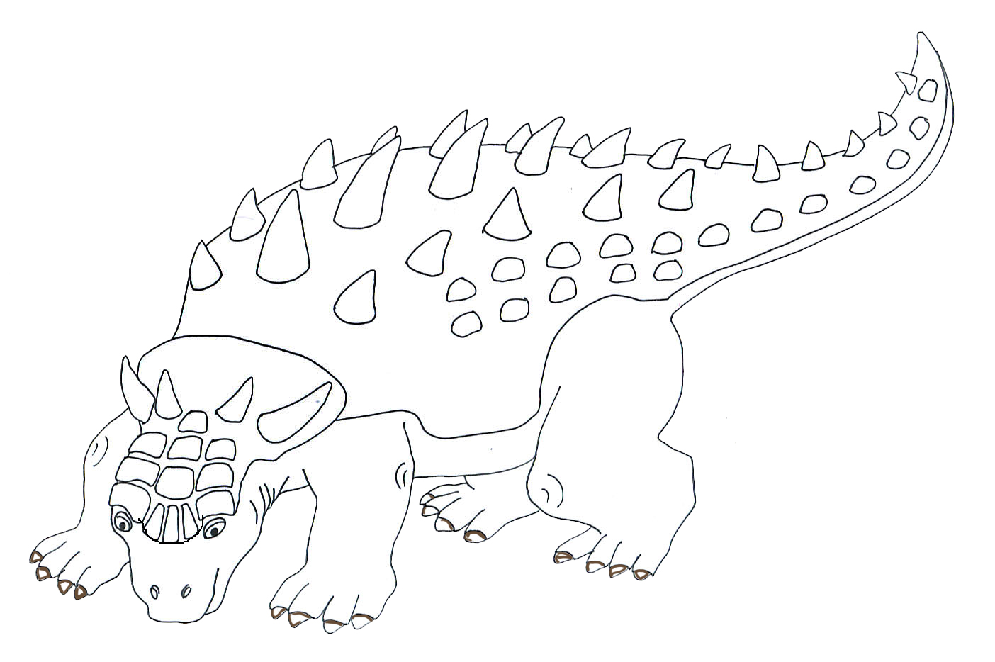 drawing of Anchylosaurus