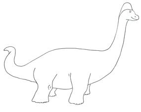 dinosaur coloring page brachiosaurus