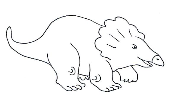 dinosaur picture sketch of protoceraptor