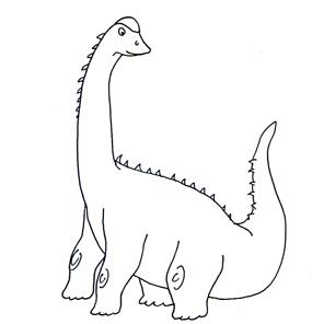 dinosaur clipart sketch sauropod