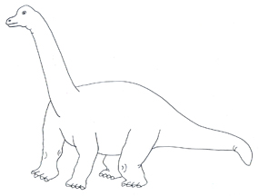 Sketch of dinosaur clipart