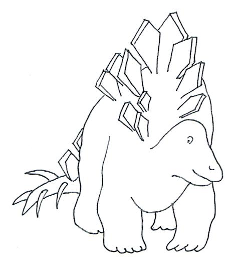 stegosaurus coloring page