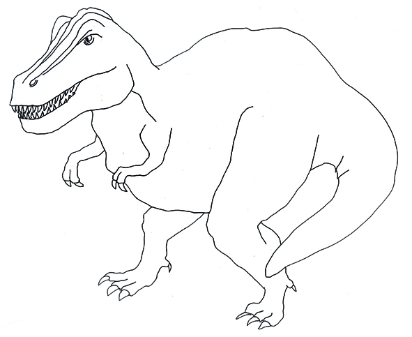 Drawing of T.rex