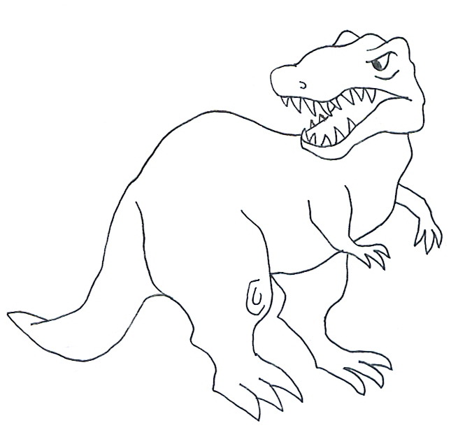 types of dinosaurs tyrannosaurus rex sketch