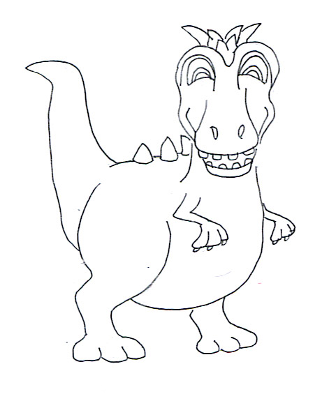 dinosaur coloring sheets cartoon dino