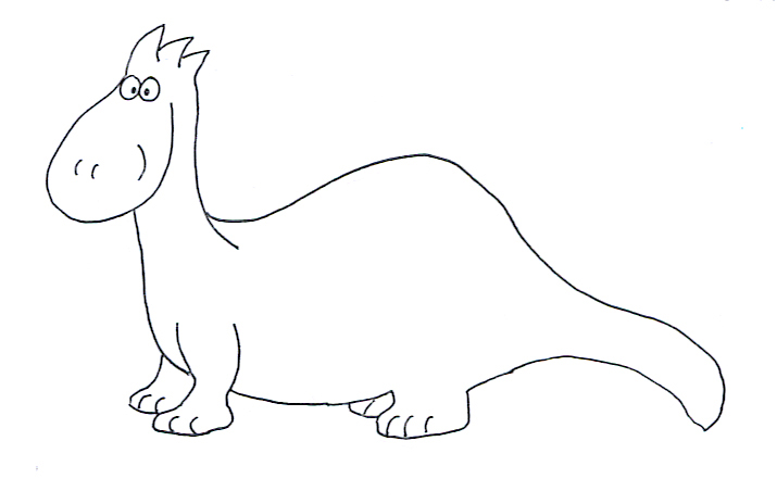 dinosaur coloring cartoon dino