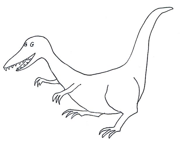Eraptor coloring page