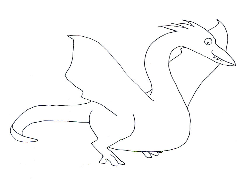 pterosarus coloring page