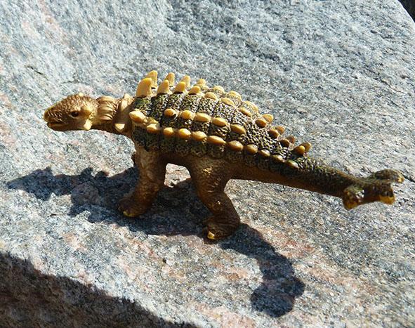 Dinosaur on rock