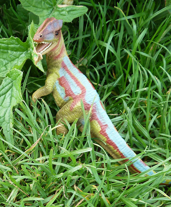 Blue and red dinosaur