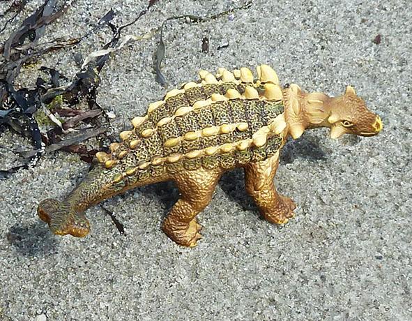 Dinosaur on sand