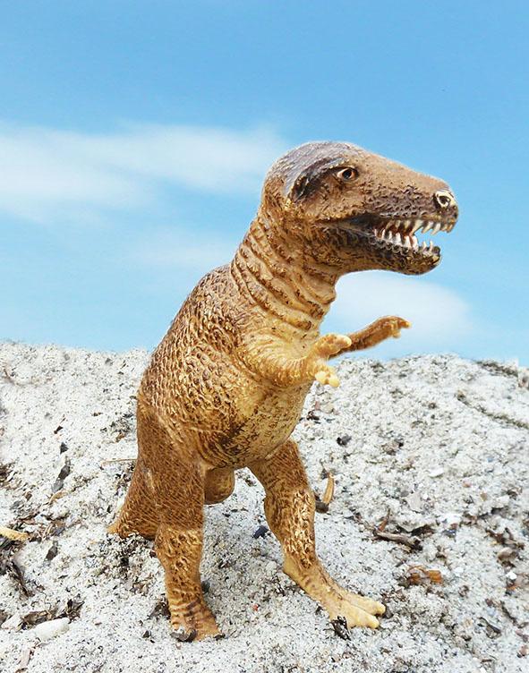 Tyrannosaurus rex against the sky