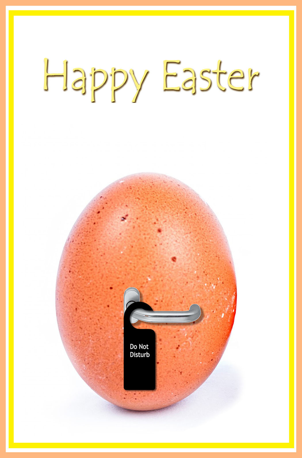 Easter card with do-not-disturb note