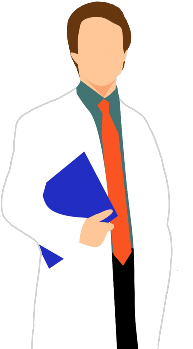 doctor with journal clipart