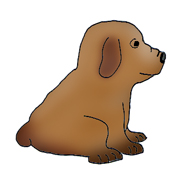 dog clip art brown puppy