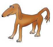 dog cartoon illustrations thin brown dog