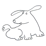 dog clip art sweet dog sketch