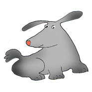 sweet grey dog clip art