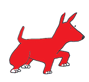 dog clip art red dog