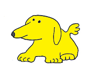 small yellow dog clip art