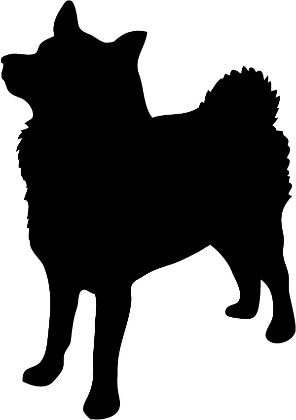 Norwegian Elkhound silhouette