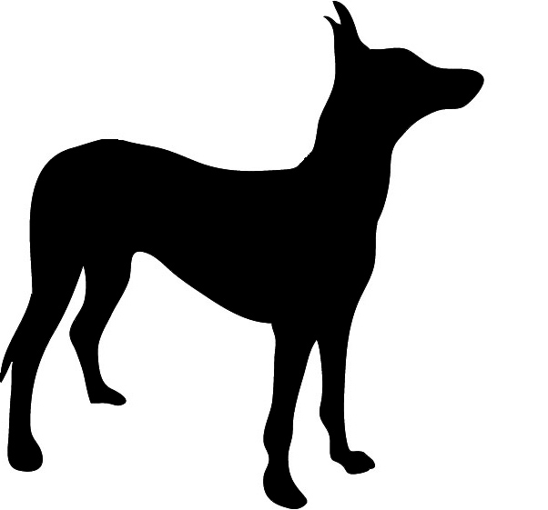 dog silhouette black